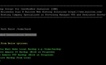 Centmin Mod Backup Script